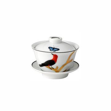 """""""Aux Oiseaux"""" chinesische Teetasse mit Deckel"""