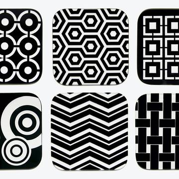 "Glasuntersetzer ""Graphic Collection"", 6er-Set"