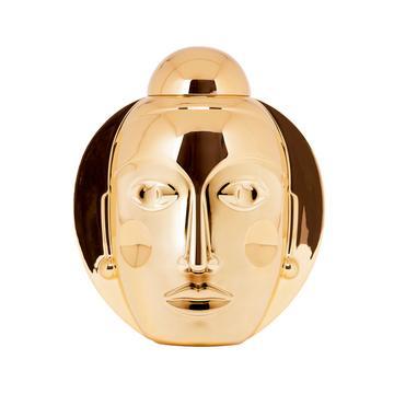 """Deckelvase """"Secret"""", gold"""