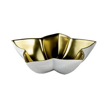 """Minéral Gold"" Schälchen, sternförmig, innen voll vergoldet"