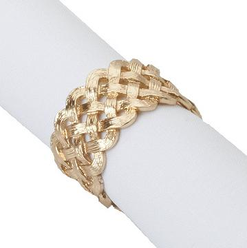 "Serviettenringe ""Braid"", 4er-Set, gold"