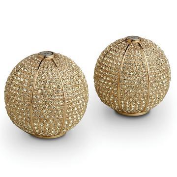 """Salz- und Pfefferstreuer """"Pave Sphere"""", gold"""