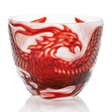"""Phoenix"" bowl, ruby red"