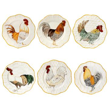 """Plumes"" dinner plates, set of 6"