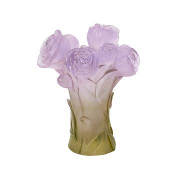 """Vase """"Pivoine"""", 17 cm, grün-violett"""