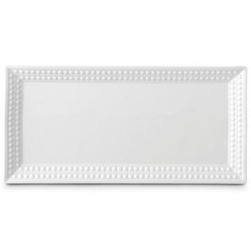 """""""Perlée White"""" Platte rechteckig"""