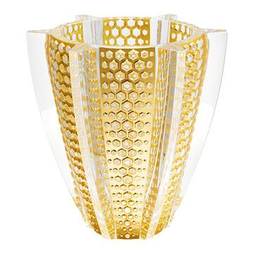 "Vase ""Rayon"", mit Blattgold"