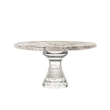 """Quadrille"" footed platter"