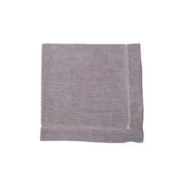 "Leinenserviette ""Belgian Linen"", grau-violett"