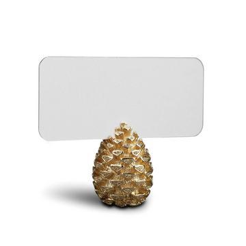"Tischkartenhalter ""Pinecone"", 6er-Set, gold"