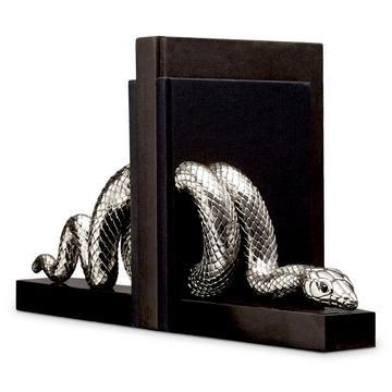 """Buchstützen """"Snake Platinum"""", 2er-Set"""