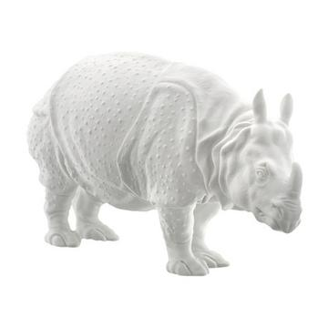 """Clara"" rhinoceros, white"