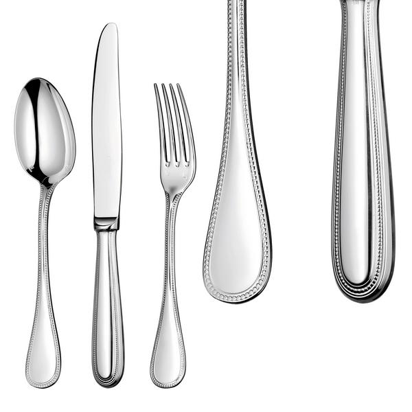 Christofle Perles Silver plated Luncheon-size Table Soup Spoon
