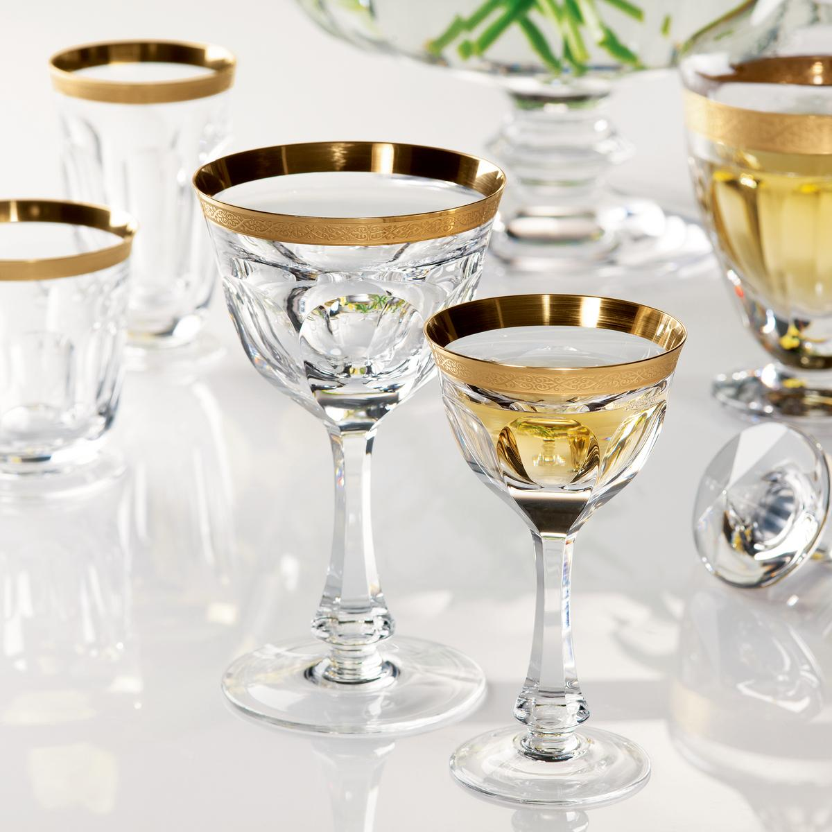 Moser Lady Hamilton Gold glasses | Artedona com