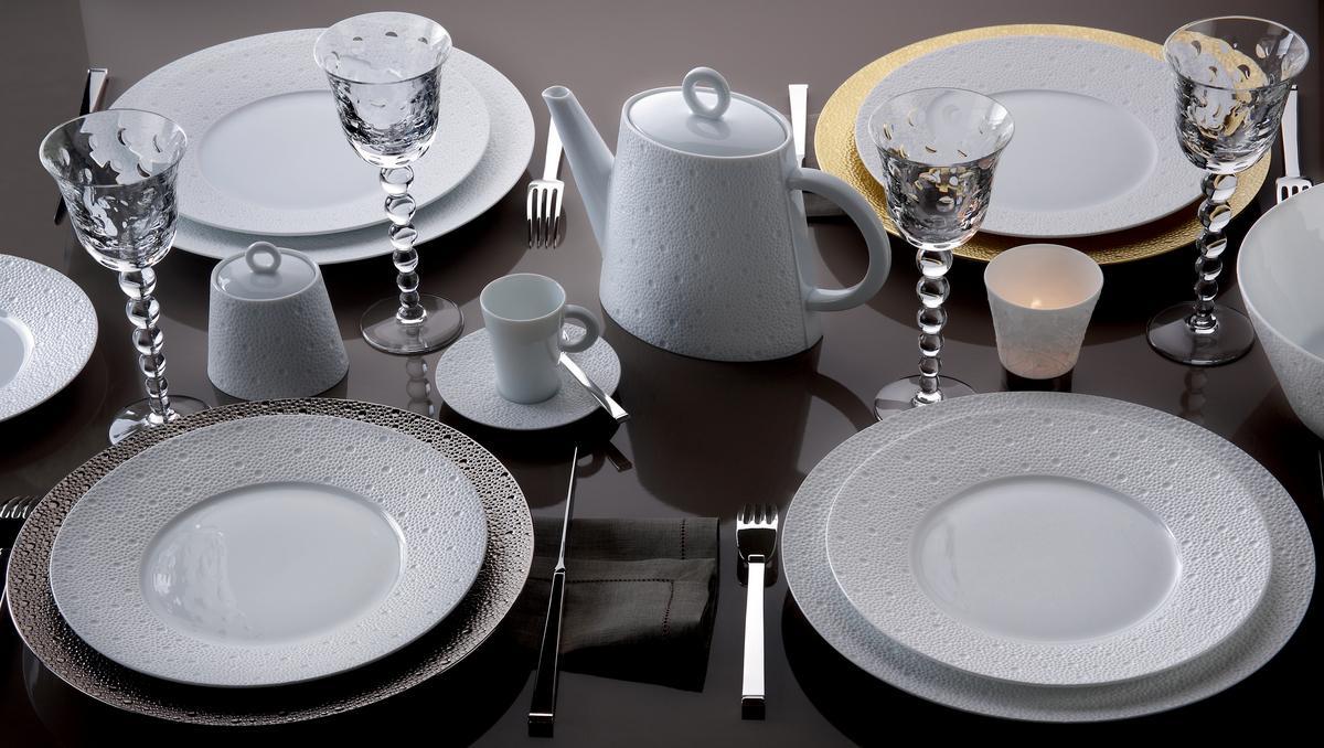 Bernardaud ecume gold dinnerware - Monoprix art de la table ...