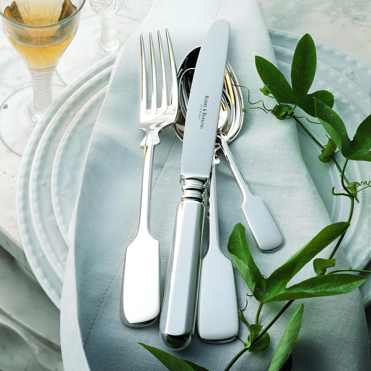 robbe berking old fiddle cutlery sterling silver. Black Bedroom Furniture Sets. Home Design Ideas