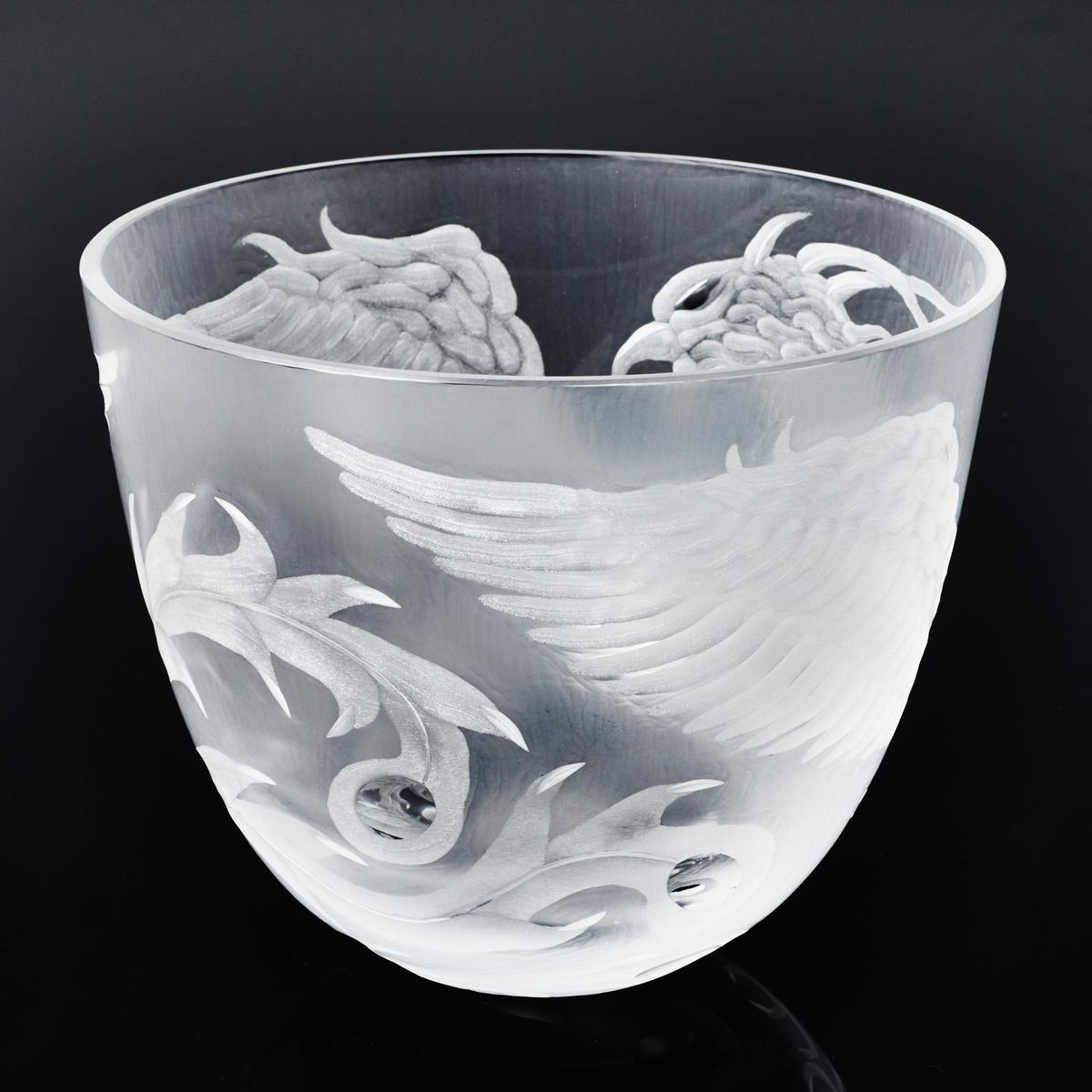 Rotter glas phoenix bowl clear for Phoenix glass decorating co