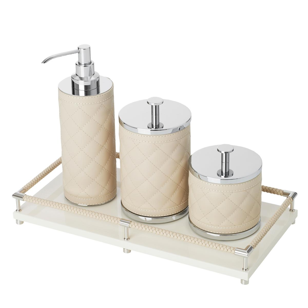 Riviere vanity bathroom accessories ivory for Bathroom vanity accessories
