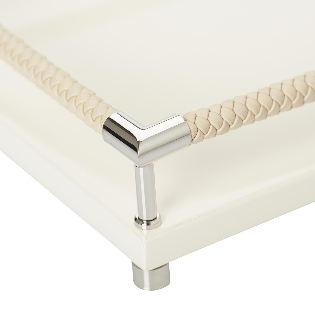 Graphic Tray Handcrafted From Ivory And