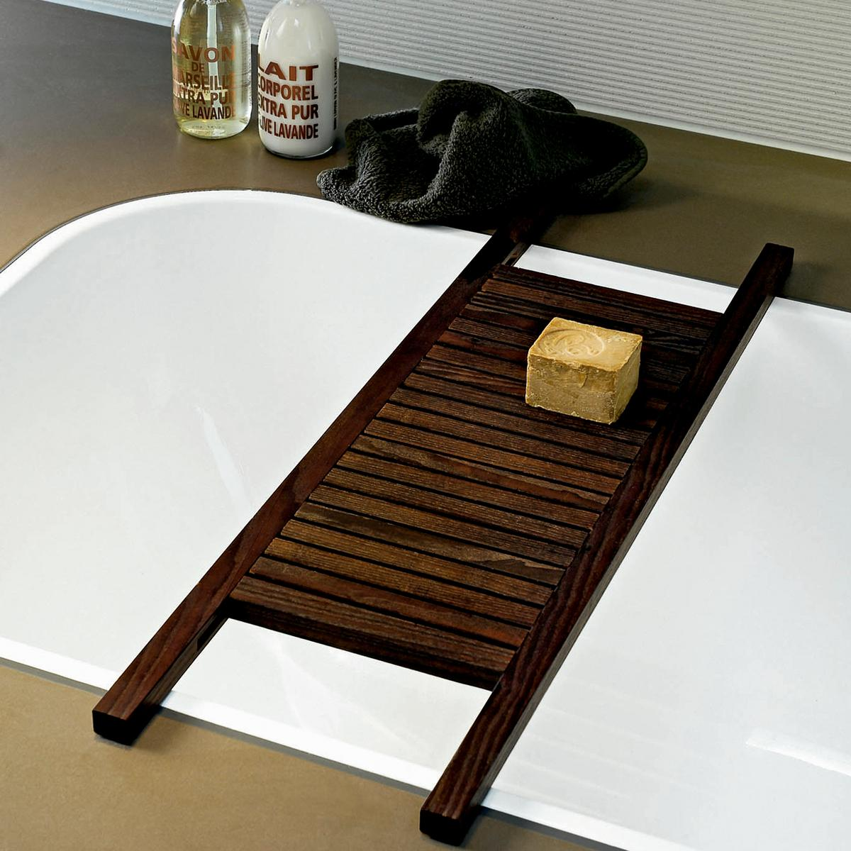 Decor walther wood bath trays for Bathroom tray decor