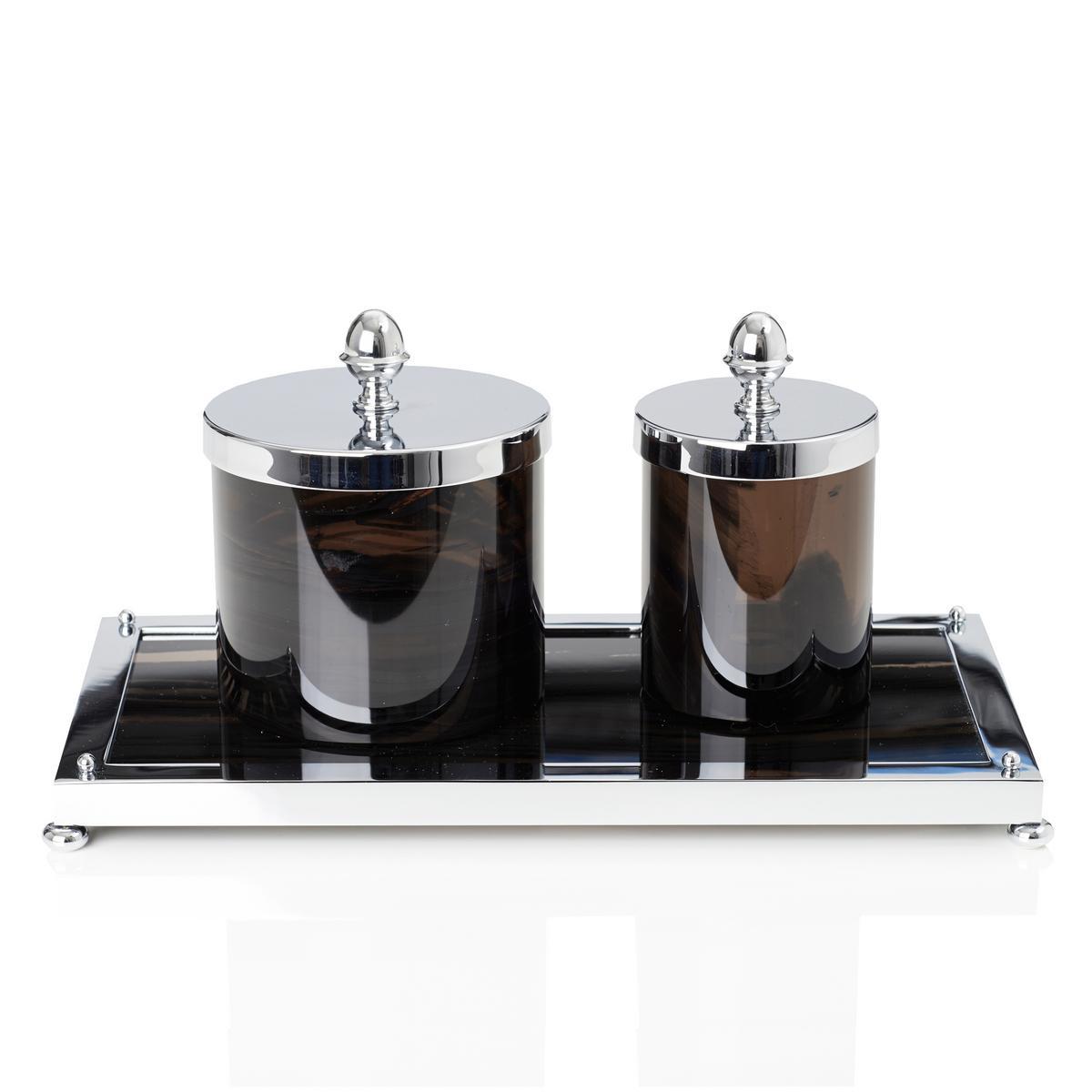 cristal et bronze obsidian jars. Black Bedroom Furniture Sets. Home Design Ideas