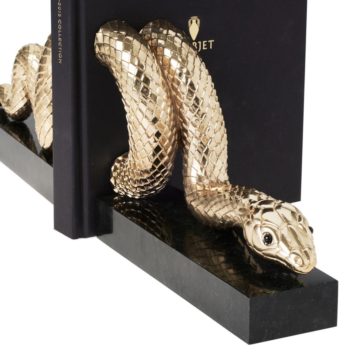 L Objet Snake Gold Bookends Set Of 2 Artedona Com